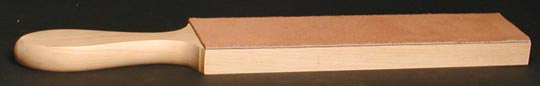 "Fine Leather and Ash Bench Strop $19.00 + S&H - Full length 12"" - Leather 2-1/8"" x 8"" (leather 2 sides add $3 )"