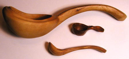 Ladle, coffee scoop, serving spoon - carved by Tom Dengler
