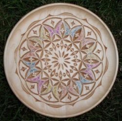 Plate by Bill Rulon, Kolrosed and Chip Carved 2006