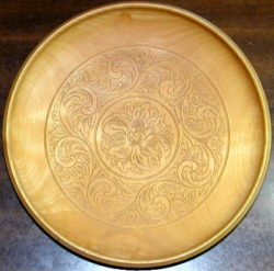 Kolrosed Plate by Ragnvald Froysandal, master kolroser of Norway